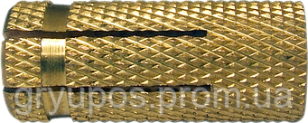 Дюбель ETO М6х23  d8  латунь
