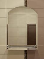 Зеркало с полкой для ванной 49х34 см