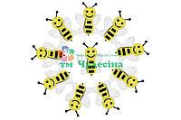 Вырубка из фетра Пчела