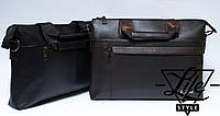Большая деловая мужская сумка-портфель Polo Есть 2 цвета!