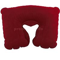 Надувная подушка для путешествий, цвет бордовый, размер L (25см х 36см) для женщин