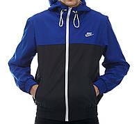 Ветровка мужская Nike черно-синяя