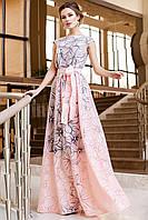 Шикароное нарядное платье в пол без рукавов JD Бритни