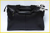 Большая деловая мужская сумка-портфель Polo Есть 2 цвета! Черный