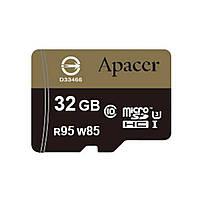 Карта памяти Apacer 32GB microSDHC UHS-I (95/85) U3 Class10 w/0 Adapter RP (AP32GMCSH10U4-R)