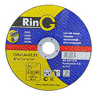 Круги отрезные по металлу 41 14А 150х1,6х22,23 RinG