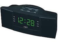 Радио Часы сетевые VST 907-4 зеленая подсветка, радио FM