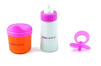 Аксессуары для куклы – бутылочка, чашка-поильник, соска DollsWorld (8512)