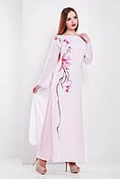 Платье белое длинное нарядное сакура
