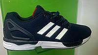 Мужские кроссовки Adidas Flux синие с белым, размеры 41-46