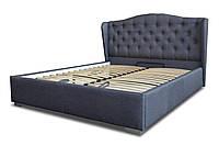 Кровать Рэтро с подъемным механизмом с мягким изголовьем односпальная