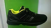 Мужские кроссовки Adidas Flux черные с желтым,размеры с 41-46, фото 1