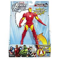 Акция! Подвижная фигурка Железный Человек 15СМ - Iron Man, Avengers, Assemble, Squeeze Legs, Hasbro