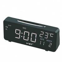 Светодиодные электронные часы с зеленой подсветкой+ датчик температуры и дата VST-763W-5