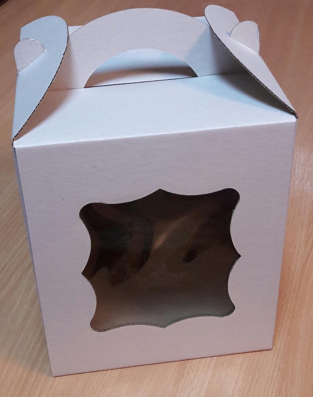 Коробка для куличей 17х17х21 см (с окошком)