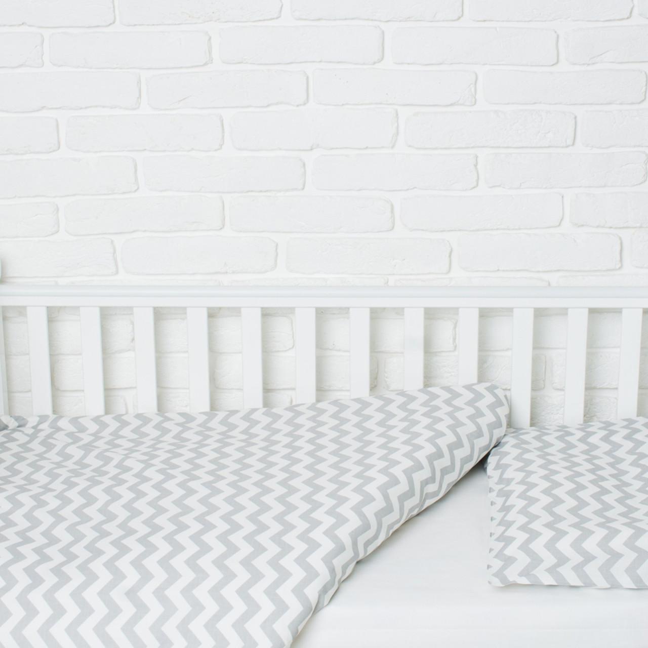 Комплект білизни в дитяче ліжечко (Сіра хвилька)