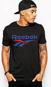 Футболка мужская Reebok Рибок черная (большой принт)