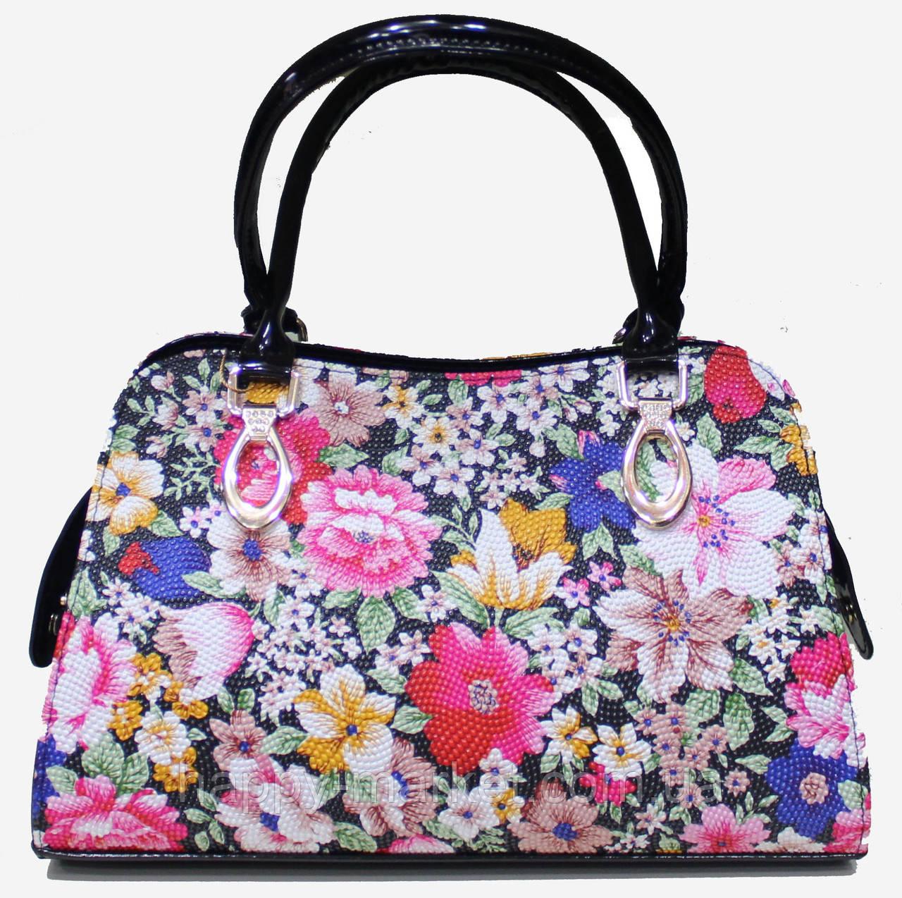 Сумка женская классическая каркасная Цветы LUCK SHERRYS 17-2115-11 -  Интернет-магазин 4831f453ffb
