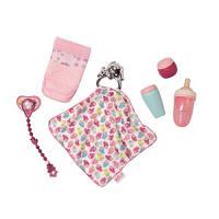 Набор аксессуаров для куклы BABY BORN - УТИНЫЕ ИСТОРИИ (бутылочки, подгузн., пустышка,игр.-одеяльце)