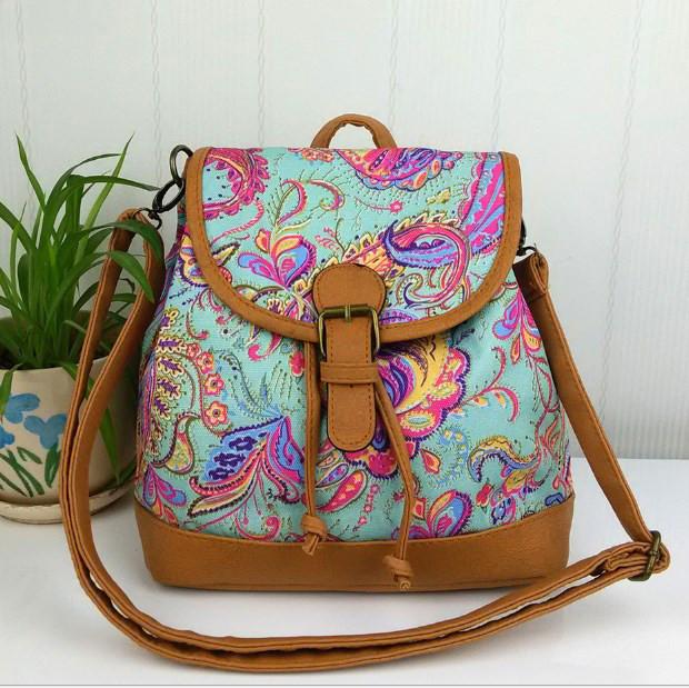 5b3c1a0e731e Маленький женский рюкзак из холщовой ткани купить в Киеве