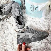 Женские кроссовки Копия бренд серый меланж код232