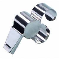 Свисток арбитра с металлической рукояткой для пальца SELECT (018), металический