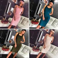 Модное женское платье с чалмой / Украина / вязка