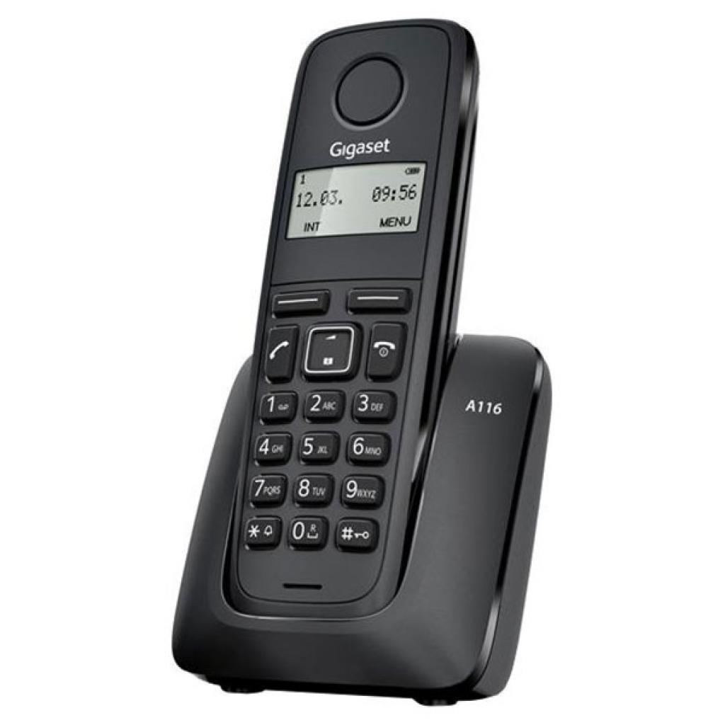 """Телефон DECT Gigaset A116 Black (S30852H2801S301) - Интернет Магазин """"Терабайт"""" в Донецкой области"""