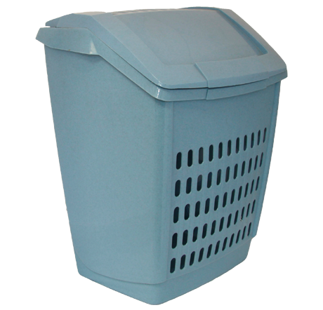 Корзина для белья 50 л голубой мрамор, TM Idea 2609