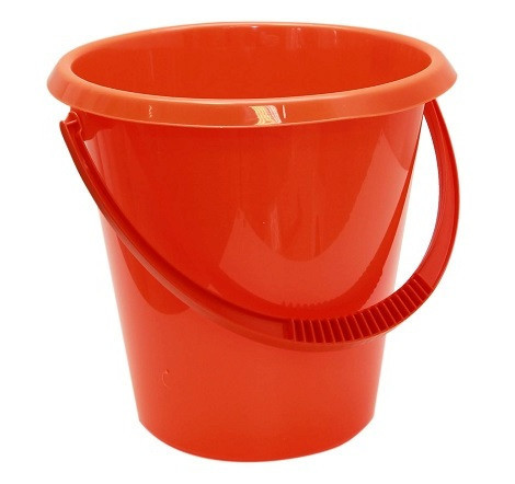 Ведро хозяйственное 7 л (оранжевое), TM Idea 2407