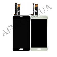 Дисплей (LCD) Meizu M3e (A680H) с сенсором белый