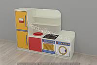 Игровая мебель детская кухня (1600*420*1200h)