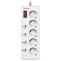Сетевой фильтр питания REAL-EL RS-5F CHARGE 4, 3m, white (EL122300015)