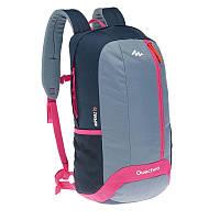 Рюкзак туристический серый с красным 20 литров (водонепроницаемый, городской)