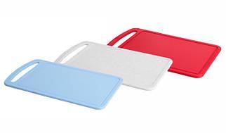Доска разделочная пластиковая 24*15 см (голубая) , TM Idea 1571