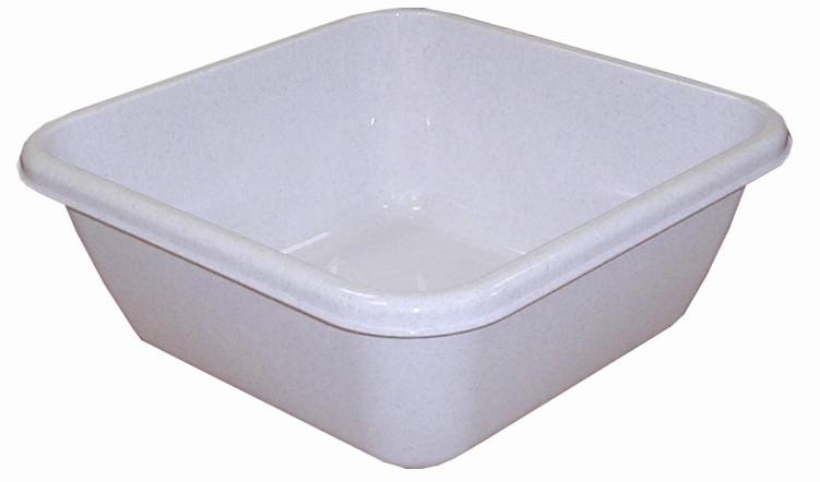 Таз хозяйственный квадратный 12 л (мрамор), TM Idea 2578
