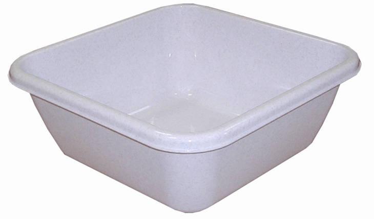 Таз хозяйственный квадратный 12 л (мрамор), TM Idea 2578, фото 2