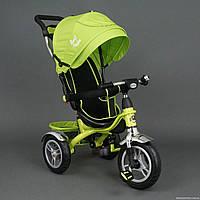 Детский трехколесный велосипед (надувные колеса) Best Trike 5388 салатовый