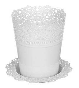 Цветочный горшок Ажур O15 см белый, TM Idea 3092