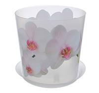 Цветочный горшок Орхидея O12,5 см (белая), TM Idea 3105