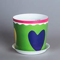 Цветочный горшок Сердце O12,5 см, TM Idea 3105