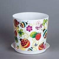 Цветочный горшок Божьи коровки O12,5 см, TM Idea 3105