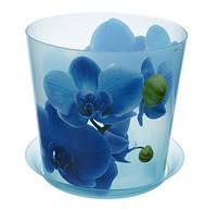 Цветочный горшок Орхидея O12,5 см (голуб.), TM Idea 3105