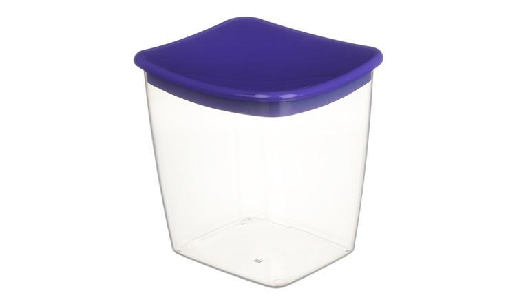 Банка для сыпучих продуктов 1 л (фиолетовая), TM Idea 1223