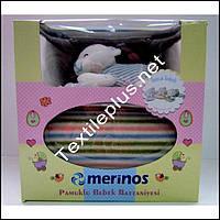 Детский плед в кроватку с игрушкой Merinos
