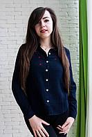 Женская модная рубашка с вышивкой из хлопка