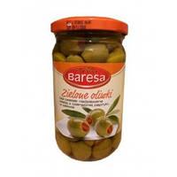 Оливки зеленые без косточек с паприкой 370 мл