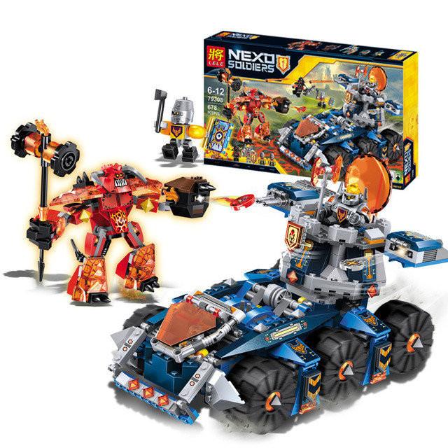 Конструктор Lele серия Nexo Soldiers 79308 Боевая башня Акселя (Аналог Lego Nexo Knights 70322)