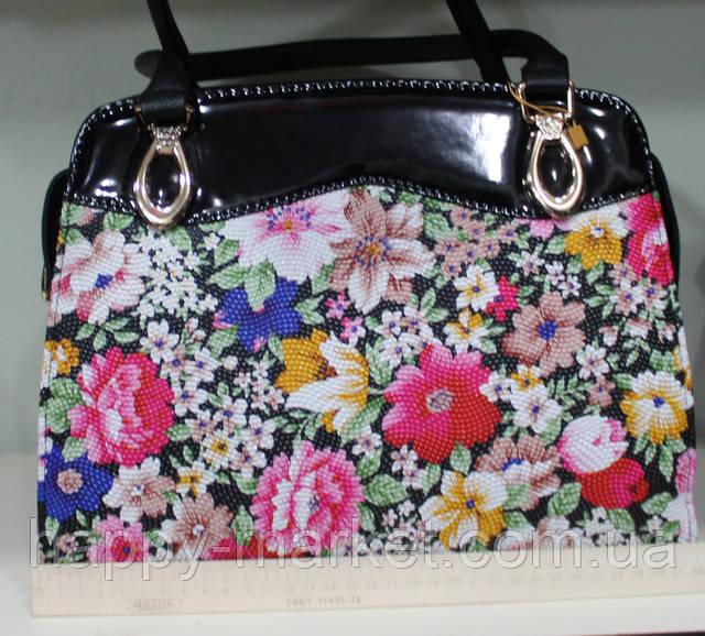 Сумка женская классическая каркасная Цветы LUCK SHERRYS 17-54-15-7 ... 15e2e5e780f