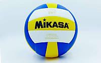 Мяч волейбол. Клееный MIK MV-210 (PU, №5, 3 слоя)